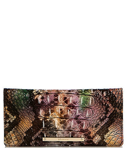 BRAHMIN Melbourne Collection Ady Crocodile-Embossed Leather Wallet