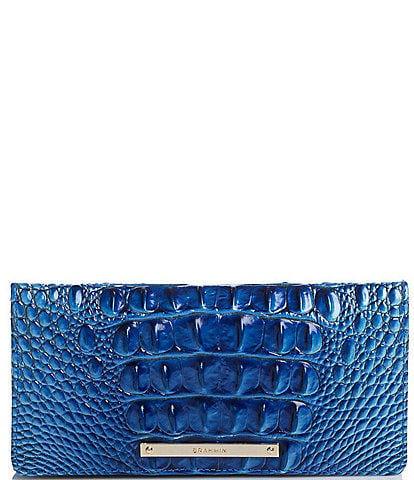 BRAHMIN Melbourne Collection Ady Crocodile-Embossed Wallet
