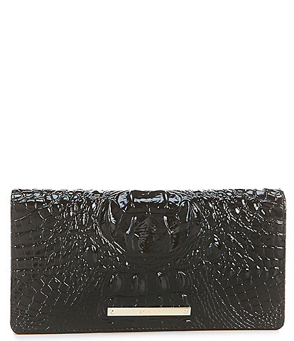 BRAHMIN Melbourne Collection Annmarie Crocodile-Embossed Wallet