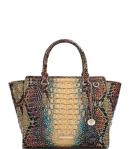 BRAHMIN Melbourne Collection Aubree Reptilian Satchel Bag