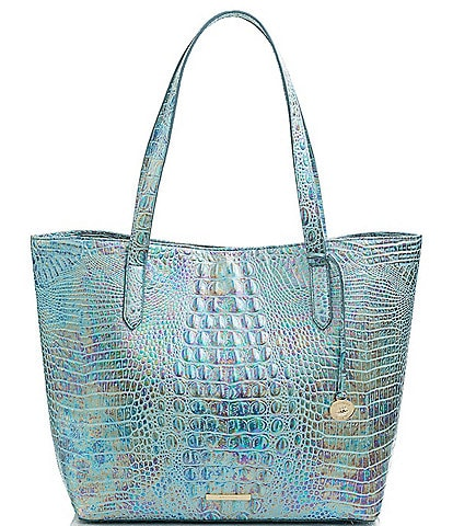 BRAHMIN Melbourne Collection Brooke Crocodile-Embossed Tote Bag