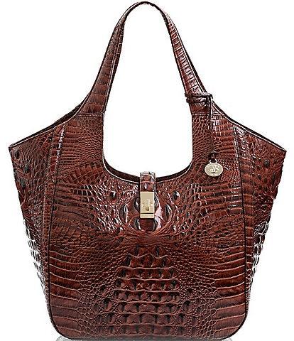 BRAHMIN Melbourne Collection Carla Crocodile-Embossed Tote Bag