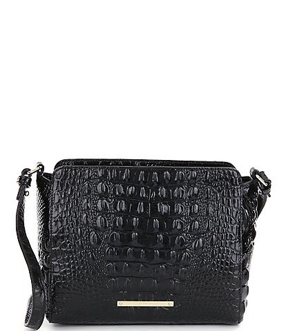 BRAHMIN Melbourne Collection Carrie Crocodile-Embossed Crossbody Bag