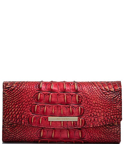 BRAHMIN Melbourne Collection Crocodile-Embossed Modern Checkbook