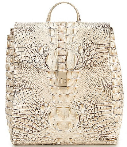 BRAHMIN Melbourne Collection Crocodile-Embossed Sadie Backpack