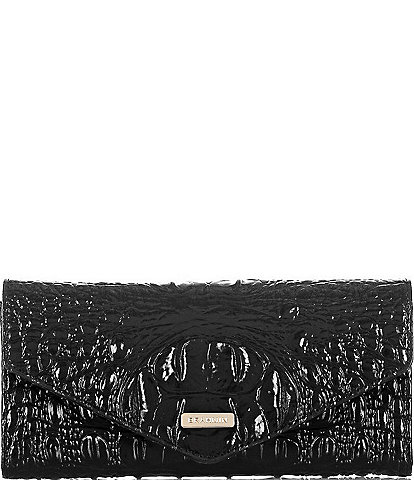 BRAHMIN Melbourne Collection Crocodile-Embossed Veronica Envelope Wallet