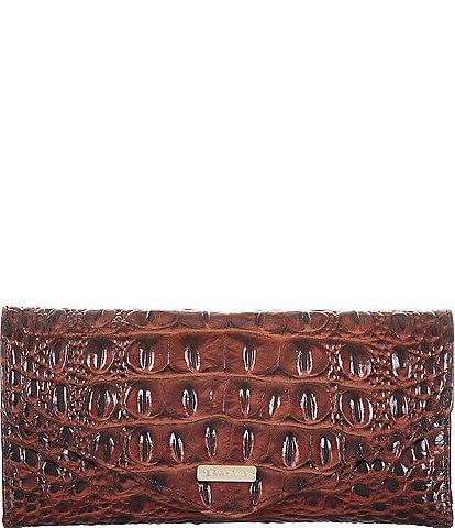 BRAHMIN Melbourne Collection Crocodile-Embossed Veronica Envelope Wallet