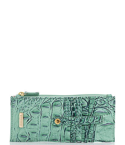 BRAHMIN Melbourne Collection Leather Crocodile-Embossed Wallet