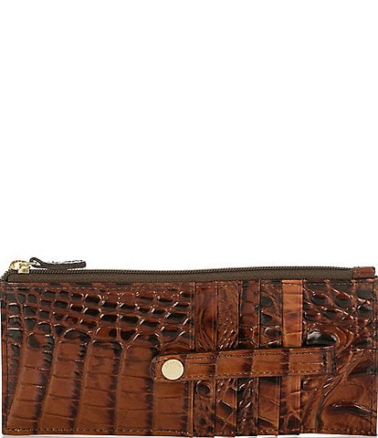 BRAHMIN Melbourne Collection Crocodile-Embossed Wallet