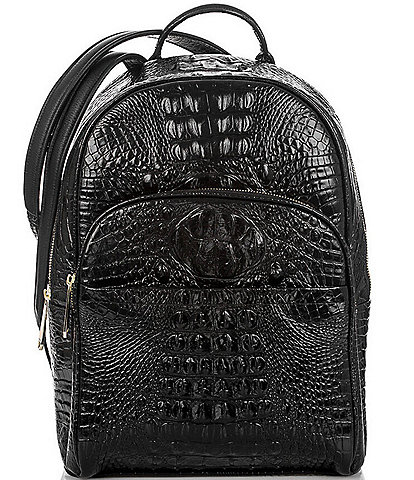 BRAHMIN Melbourne Collection Dartmouth Crocodile-Embossed Backpack