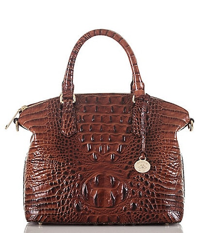 BRAHMIN Melbourne Collection Duxbury Crocodile-Embossed Satchel