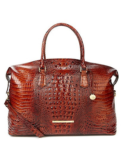 123f8bdc0 BRAHMIN Melbourne Collection Duxbury Crocodile-Embossed Weekender