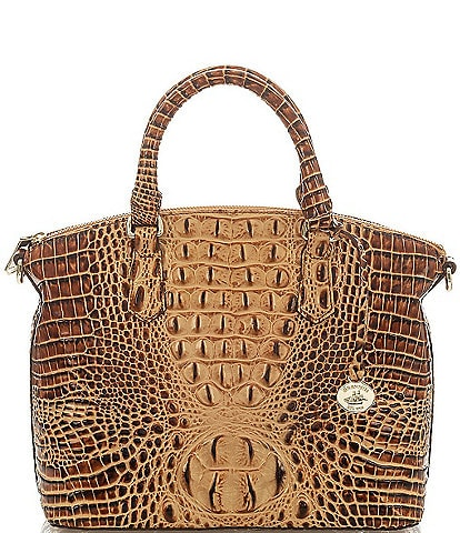 BRAHMIN Melbourne Collection Duxbury Crocodile-Embossed Satchel Bag