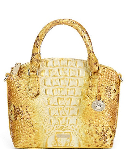 BRAHMIN Melbourne Collection Duxie Crocodile-Embossed Crossbody Bag