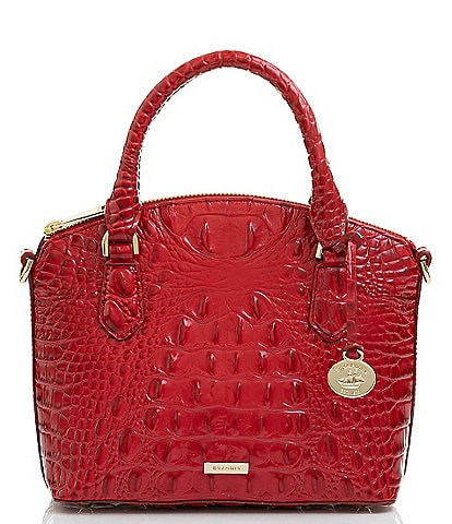 BRAHMIN Melbourne Collection Duxie Crocodile-Embossed Crossbody