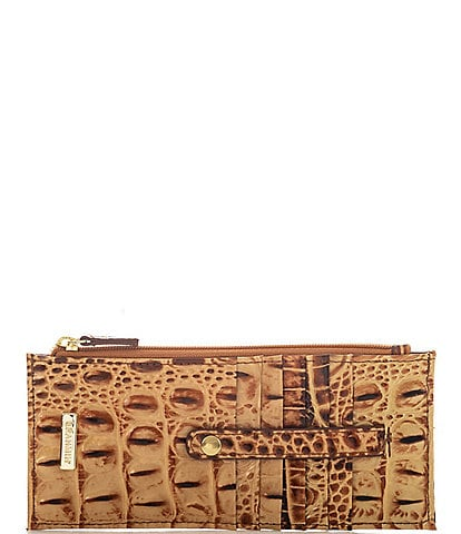 BRAHMIN Melbourne Collection Crocodile-Embossed Credit Card Wallet