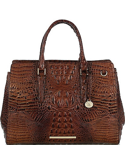 BRAHMIN Melbourne Collection Finley Crocodile-Embossed Carryall