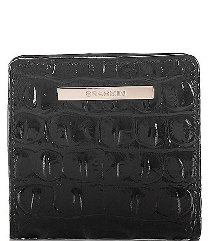 BRAHMIN Melbourne Collection Leather Crocodile-Embossed Jane Mini Bifold Snap Wallet