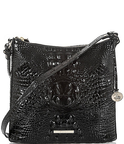 ef5046a6c309 BRAHMIN Melbourne Collection Katie Crocodile-Embossed Crossbody Bag