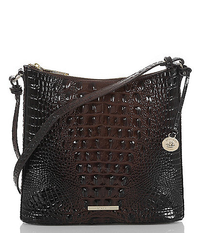 BRAHMIN Melbourne Collection Katie Crocodile-Embossed Crossbody