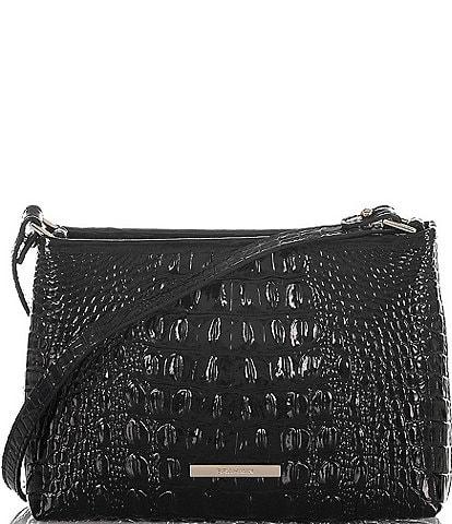 BRAHMIN Melbourne Collection Lorelei Crocodile-Embossed Shoulder Bag