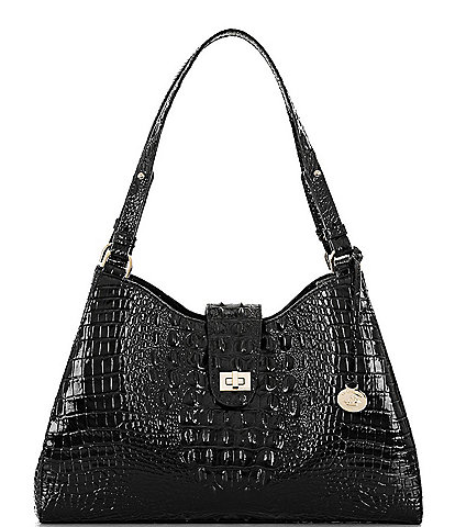 BRAHMIN Melbourne Collection Madelyn Crocodile-Embossed Shoulder Bag