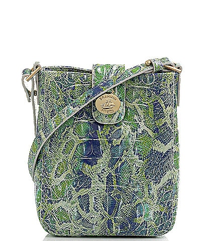 BRAHMIN Melbourne Collection Marley Crocodile-Embossed Leather Crossbody Bag
