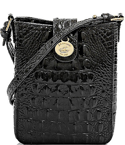 BRAHMIN Melbourne Collection Marley Crocodile-Embossed Crossbody