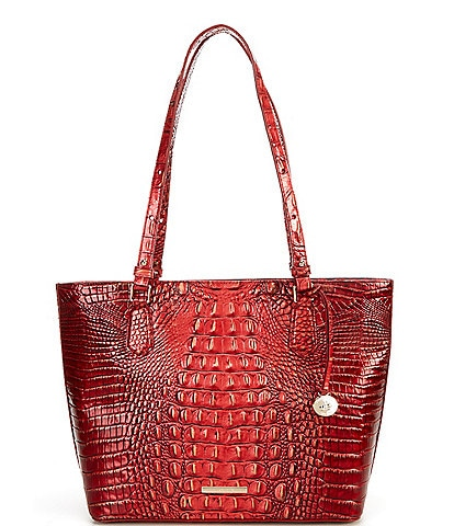 BRAHMIN Melbourne Collection Medium Misha Crocodile-Embossed Tote Bag