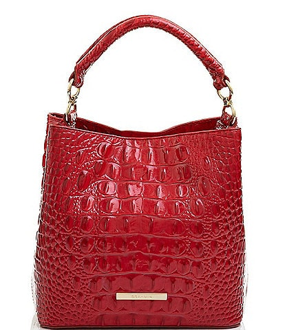 BRAHMIN Melbourne Collection Mini Amelia Crocodile-Embossed Bucket Bag