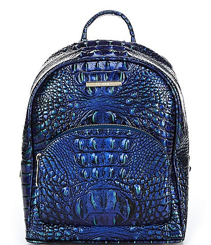 BRAHMIN Melbourne Collection Mini Dartmouth Crocodile-Embossed Backpack