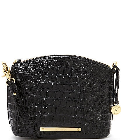BRAHMIN Melbourne Collection Mini Duxbury Crocodile-Embossed Dome Crossbody Bag