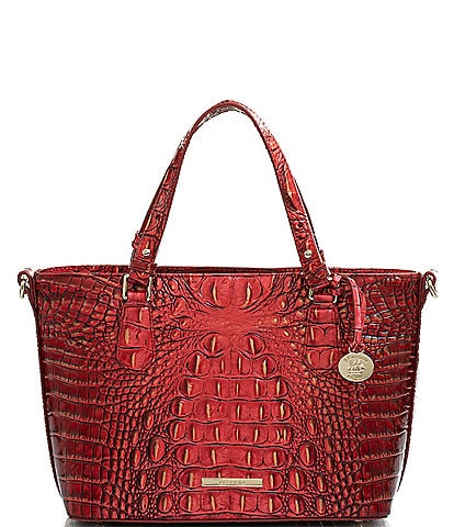BRAHMIN Melbourne Collection Mini Misha Crocodile-Embossed Satchel Bag