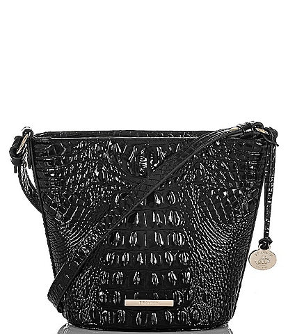 BRAHMIN Melbourne Collection Mini Quinn Crocodile-Embossed Crossbody Bag