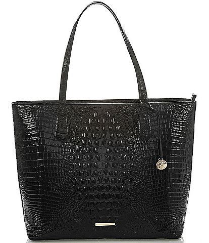 BRAHMIN Melbourne Collection Misha Crocodile-Embossed Tote Bag