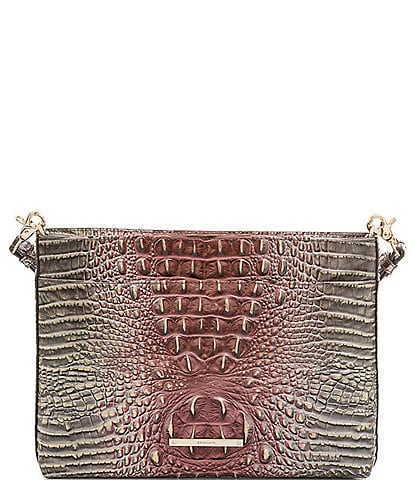 BRAHMIN Melbourne Collection Remy Crocodile-Embossed Crossbody Bag
