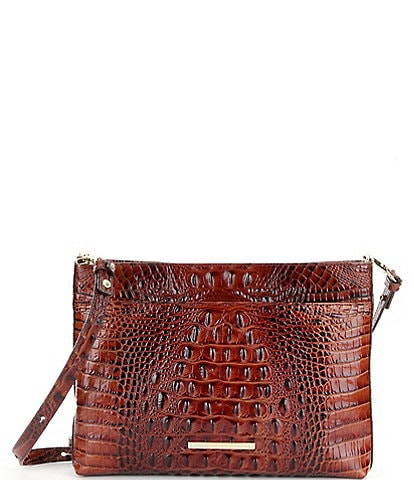 BRAHMIN Melbourne Collection Remy Crocodile-Embossed Crossbody