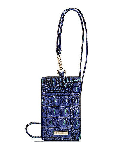 BRAHMIN Melbourne Collection Sawyer Crocodile-Embossed Lanyard