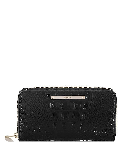 BRAHMIN Melbourne Collection Suri Crocodile-Embossed Wallet