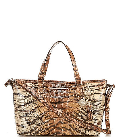 BRAHMIN Melbourne Medium Asher Crocodile-Embossed Tote Bag
