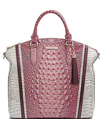 BRAHMIN Monte Carlo Collection Large Duxbury Dome Satchel Bag