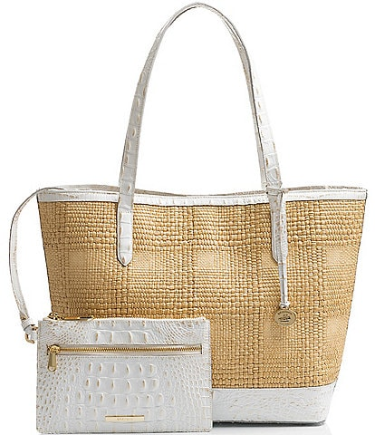 BRAHMIN Natural Sol Brooke Tote Bag