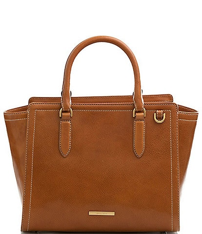 BRAHMIN Odin Collection Aubree Smooth Leather Satchel Bag