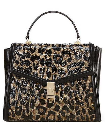 BRAHMIN Snowfall Collection Ingrid Satchel Bag