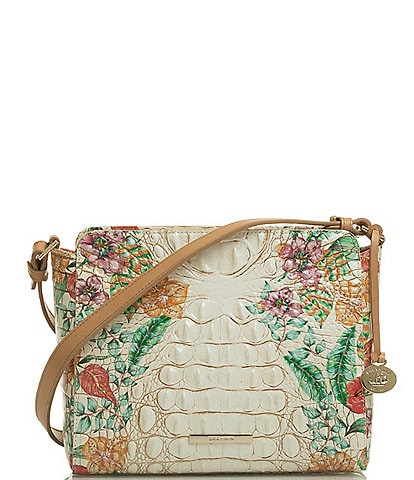BRAHMIN Tahiti Collection Carrie Floral Crossbody Bag