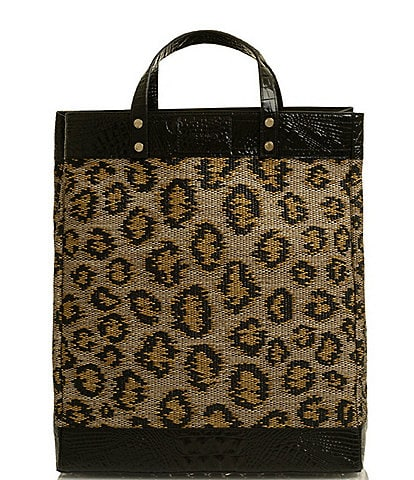 BRAHMIN Tybee Collection Miriam II Leopard Print Tote Bag