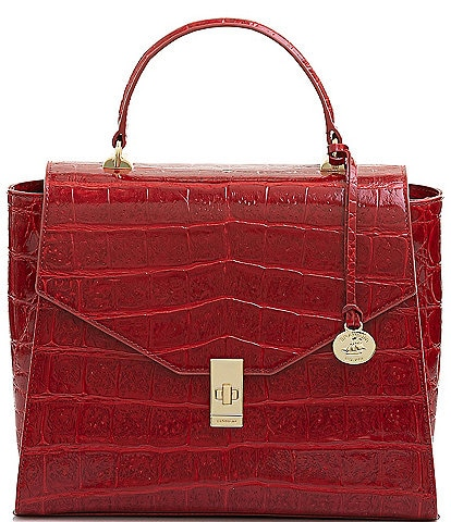 BRAHMIN Veil Collection Ingrid Top Handle Satchel Bag