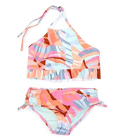 Breaking Waves Big Girls 7-16 Crystal Cove Guava Island Two-Piece Swimsuit