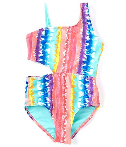 Breaking Waves Big Girls 7-16 Tie-Dye Tahiti One-Piece Swimsuit