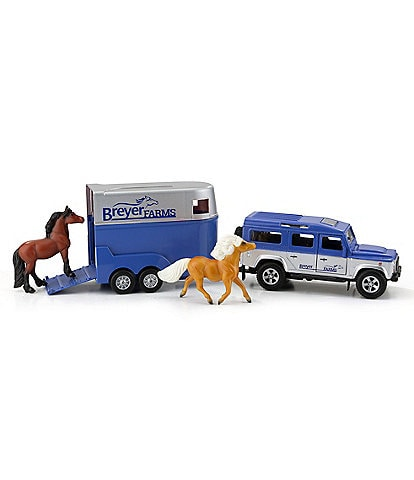 Breyer Land Rover And Tag-A-Long Horse Tralier